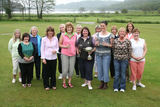 Some of the golfers who braved Sunday's weather