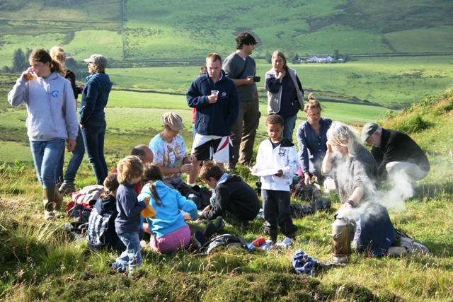 The Clachan Youth Club breakfast campfire