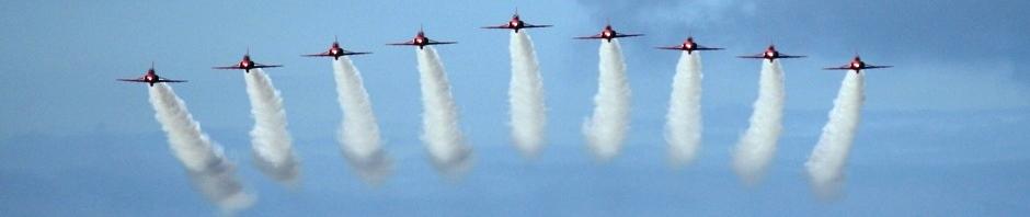 Red Arrows, Dun Skeig, Clachan, West Kintyre, 12 July 2011