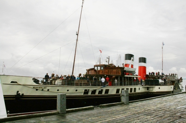 PS Waverley arriving East Pier, Tarbert, on Wednesday
