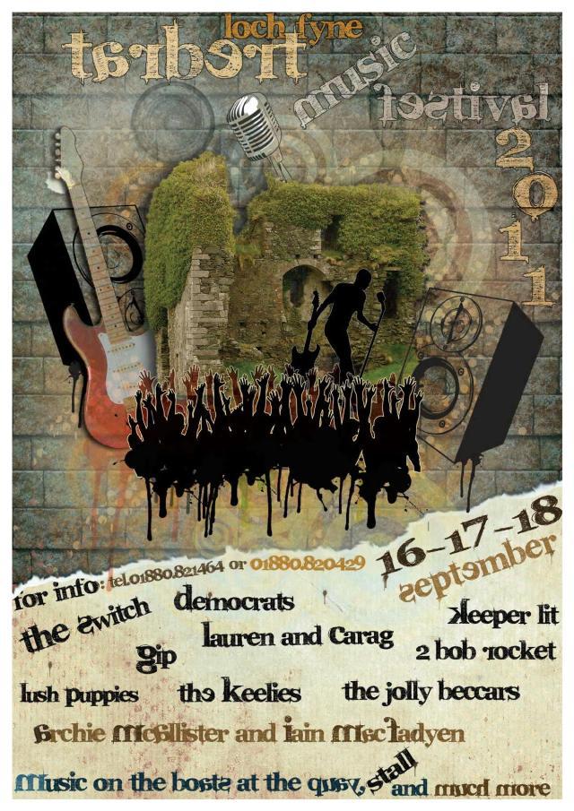 Poster, Tarbert Music Festival 2011 v2.0