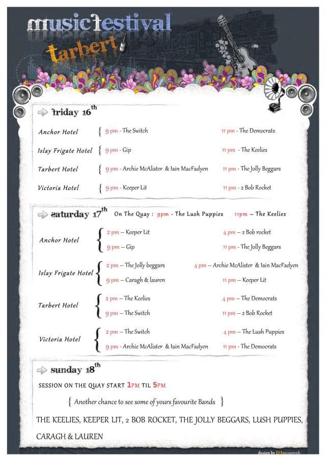 Programme, Tarbert Music Festival 2011 v2.0