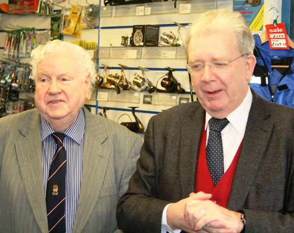 Argyll & Bute's Provost William Petrie (left) with Mike Russell MSP at yesterday's launch ceremony in Lochgilphead