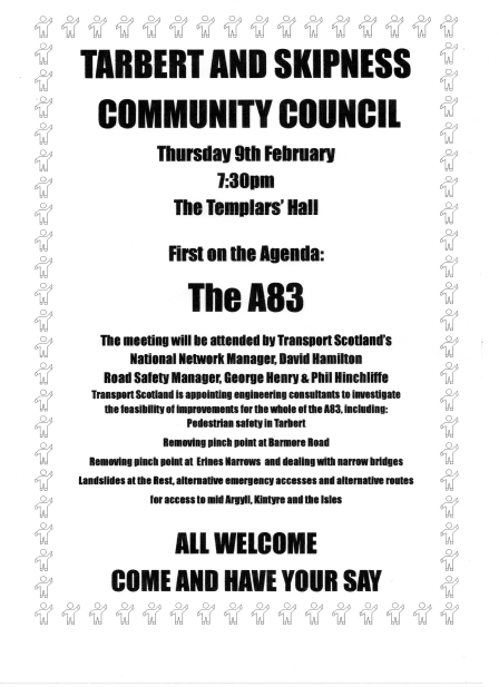 TSCC poster re A83 meeting 9.2.12