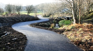 The TAWNI Trail is being developed on both sides of the new path