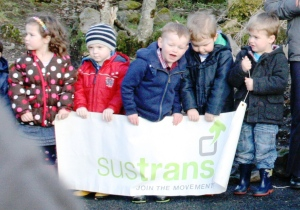 Some of the children who will benefit from the funding by Sustrans and others